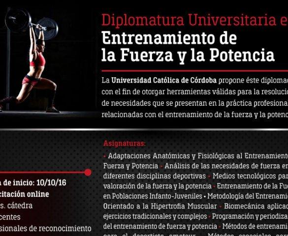 Diplomatura Universitaria en Entrenamiento de la Fuerza y la Potencia